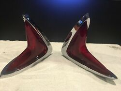 Oem Nos 1960 Chrysler 300 New Yorker Tail Light Lamp Assembly's Beautiful Pair