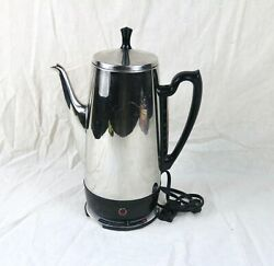 Vintage Ge General Electric Percolator Coffee Pot 12 Cup Immersible Collectibles