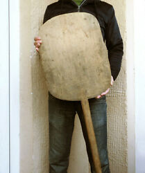 49 Antique Hand Hewn Wooden Bakery Dough Bread Board Pizza Peel Huge 18 Paddle