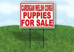 Cardigan Welsh Corgi Puppies For Sale Red Yard Sign Road With Stand Lawn Sign