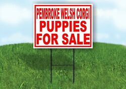 Pembroke Welsh Corgi Puppies For Sale Red Yard Sign Road With Stand Lawn Sign