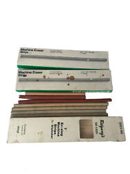 7 Faber Castell Electric Erasing Machine Eraser Strips No. 75 And 79 And Others Lot