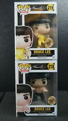 Funko Pop Movies Bait Exclusive Bruce Lee Set 218 And 219