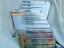 1950 Ford 50 Accessory Pair Of Fender Shields Stainless Trim