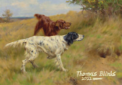 2022 Wall Calendar 12pg Vintage Hunting And Gun Dogs Museum Art By Blinks 3192