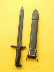Us M1 Garand Bayonet /scabbard-- A Spear Point-pal Made Genuine Collectable