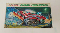 Nomura Lunar Bulldozer Mystery Action Space Tin Toy With Box New Old Stock Nice