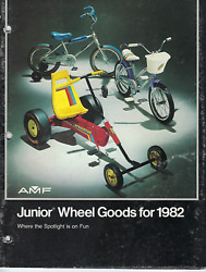 Amf Junior Wheel Goods 1982 Dealer Catalog • Pedal Cars, Trikes, Punched