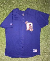 Vintage Detroit Tigers Russell Athletic Knit Baseball Jersey 1997 Size Xl New