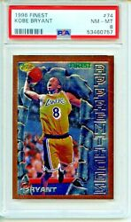 1996 Topps Finest 74 Kobe Bryant Rookie Card Psa 8 Nm-mint Los Angeles Lakers