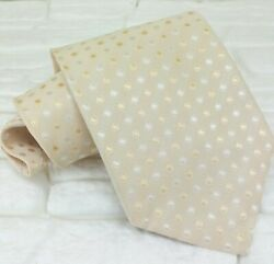 Neck Tie Light Yellow Geometric New Made In Italy Silk Business / Gift Idea