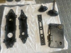 Authentic Victorian Vintage Mortise Door Lock And Knobs