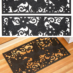Rubber Stair Step Treads Mat Or Doormat Rug Butterfly Outdoor Porch Traction