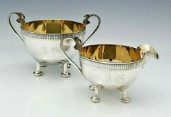 Gorham Isis Sterling Silver Sugar And Creamer Egyptian