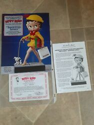 Mint Betty Boop 1995 Shopping Spree Doll With Coa And Box - Danbury Mint