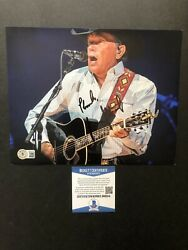 George Strait Autographed Signed 8x10 Photo Beckett Bas Coa Music Country Legend