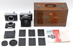 Amazing Rare Canon X-ray Cx-60 Camera W/ 100mm F/1.5 Lens Set From Japan 522