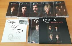 Queen Greatest Hits - Signed Cd And 5 Collectors Cassette Set Bundle 1000 Only