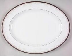 Waterford China Brocade 15 1/4 Oval Serving Platter - Discontinued