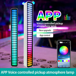 Rgb Led Voice-activated Pickup Rhythm Light Colorful Sound Control Ambient Light