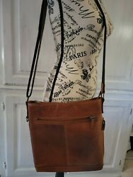 Leather Crossbody Bag Buffalo Leather Purse Habd Stained Jack Georges Voyager