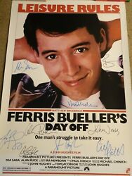 Really Nice Ferris Buellerand039s Day Off Signed Movie Poster 9 Sigs W/ Hughes