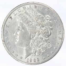 1902-s Morgan Silver Dollar Au About Uncirculated Jo/787