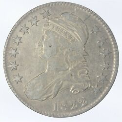 1822-p Capped Bust Half Dollar Au About Uncirculated Jo/790