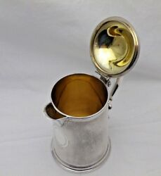 1868 Antique Sterling Solid Silver Lidded Jug Tankard 1 Pint 545g 1532-9-osny