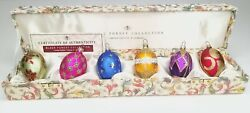Black Forest Collection Spring Easter Themed Egg Ornaments Box Coa Germany