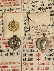 Rare Ancient Pope Pius Xii Lot New Silver Medals Memory Of Marriage 1940and039s
