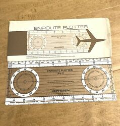 1982 Jeppesen Enroute Plotter Pv-2 Scale With Instructions Envelope Englewood Co