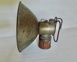 Old Time Vintage Miners Carbide Lamp Lantern With 7 1/4 Reflector Light Usa