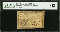 New Jersey Colonial Note Frnj-194 Jan. 9 1781 1s Pmg 62