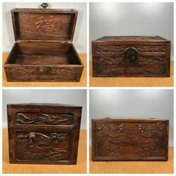 China Antique Furniture Rosewood Treasure Chest Jewelry Box Storage Boxes Wood