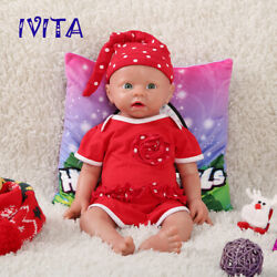 Ivita 19and039and039 Full Silicone Reborn Doll Rooted Hair Newborn Baby Girl Xmas Gift Toy
