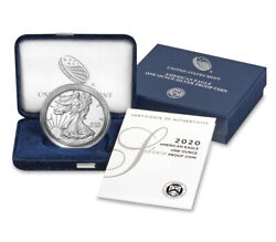 2020-w American Eagle Type 1 20ea One Ounce Silver Proof Coin - Lot Of 3