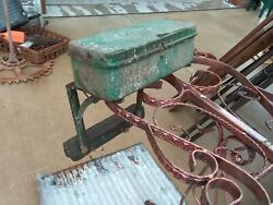 Antique/vintage John Deere Tractor Tool Box W/mounting Brackets Rare Find Green