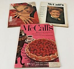 3 Vintage Mccall's Fashions Book Magazine Sewing Women's 1953 1969 1970