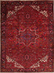 Vintage Geometric Traditional Oriental Area Rug Hand-knotted Wool 10x13 Carpet