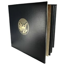 The Roosevelt Centenary Metal Album Containing 25 Silver Coins Plated 24kt