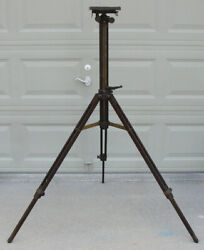 Antique Ansco Large Format Camera Wood Adjustable Tripodadjusts From 29 To 53