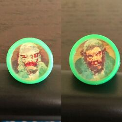 Vintage Don Post Monster Flicker Ring, Creature/wolfman, Green, Gumball Charm