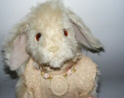 Artist Bear Wendy Brent Noses Of Roses 19/50 Mohair Jointed Bunny Rabbit Hopsy