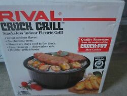 Rival Crock Grill 5750 Electric Smokeless Indoor Crock Grill