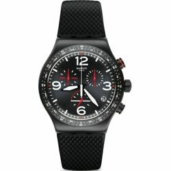 Swatch Black Is Back Quartz Movement Black Dial Menand039s Watches Yvb403