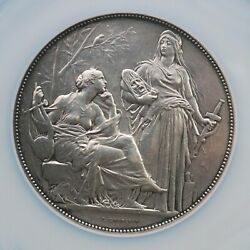 Ngc France 1860 Music Conservatory By Chaplain Silver Medal