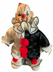 """House Of Global Art Porcelain Clown Doll Wind Up Musical Collectible Clown 11"""""""