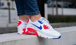 Nike Womenand039s Air Max 90 Shoes White Racer Blue Crimson Ct1039-100 Multi Size