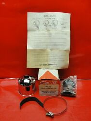 Vintage Nos 1960and039s Sun Nc-5 Chrome Tachometer Mounting Cup Day 2